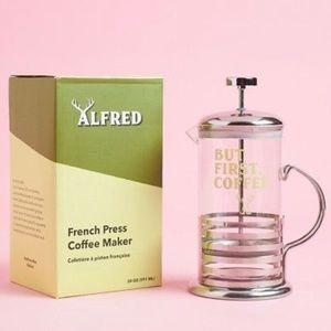Alfred But First Coffee French Press FabFitFun